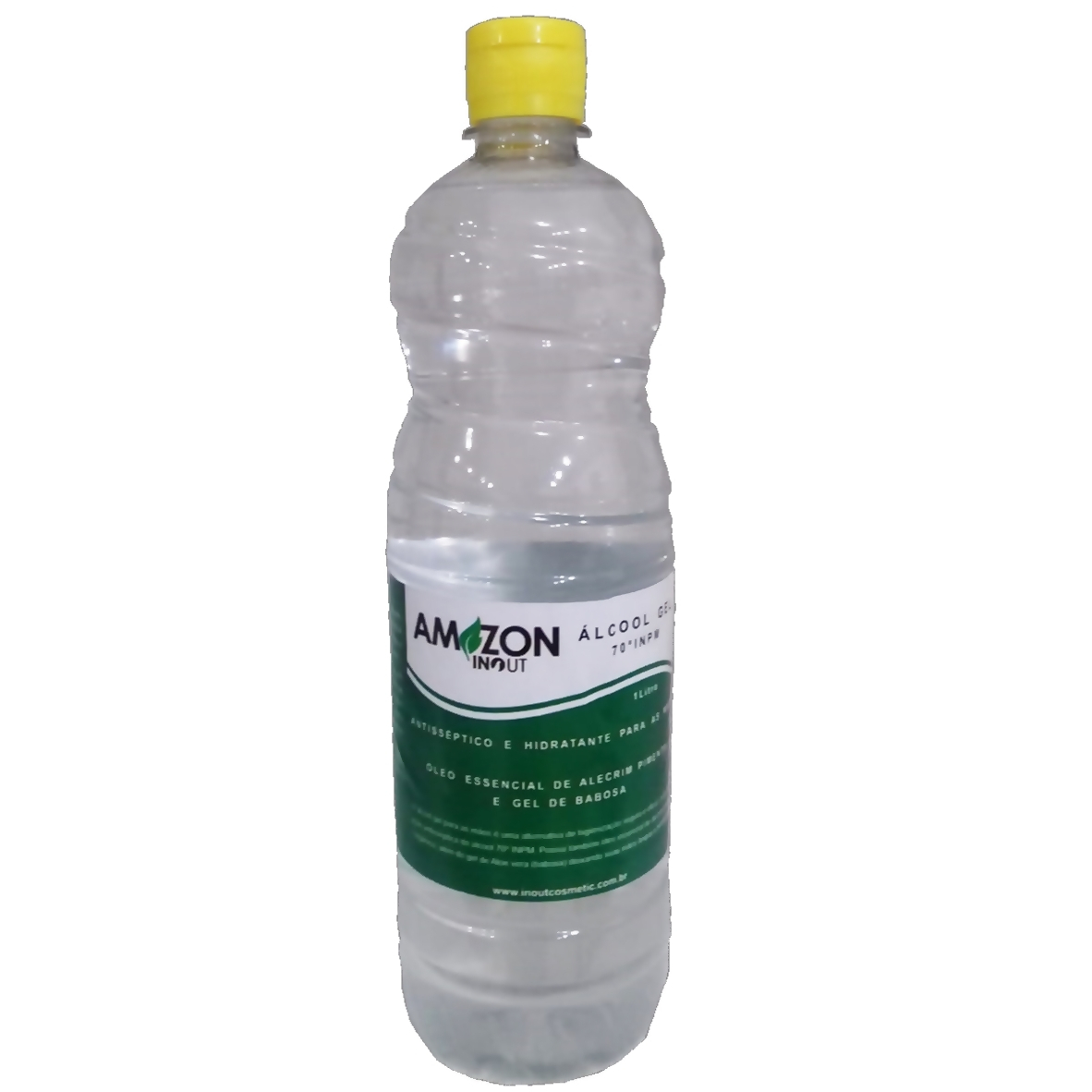 Álcool Em Gel 70º Antisséptico Amazon In Out 1L