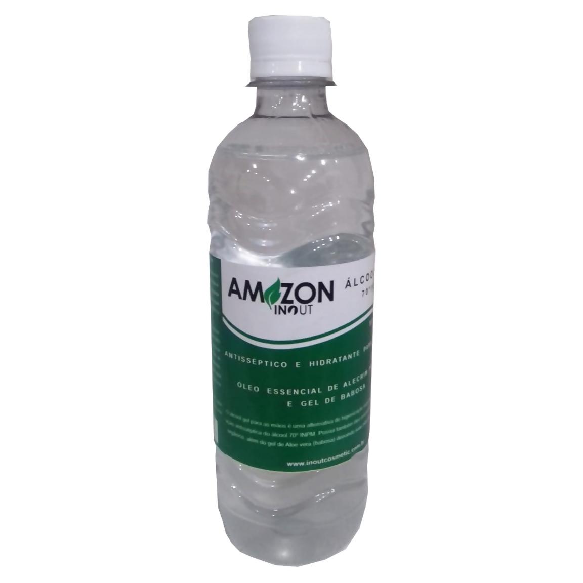 Álcool Em Gel 70º Antisséptico Amazon In Out 500ml