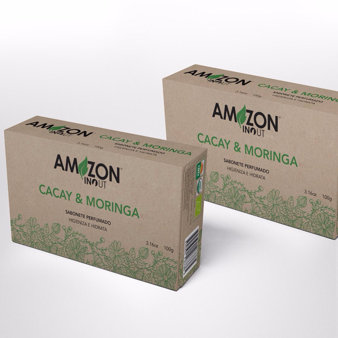Cacay and Moringa's Oil Vegetable Soap Amazon In Out 100g